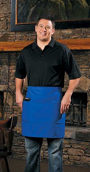 Style 113 Professional Three Pocket Half Bistro Apron