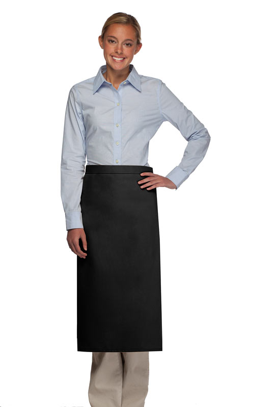 Style 120NP Professional No Pocket Full Length Bistro Apron - Black