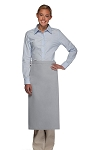 OVERSTOCK 120NP Professional No Pocket Full Length Bistro Apron - Silver