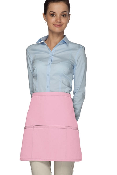 Style 180XL Professional Extra Large Three Pocket Rounded Waist Apron - Pink