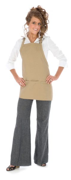 Style 200 High Quality Professional Three Pocket Bib Aprons