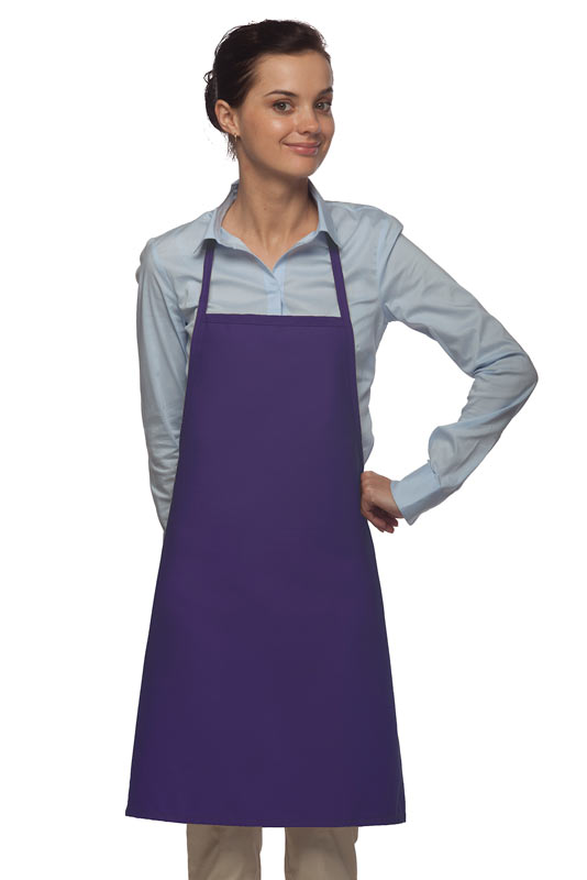 Style 205 Professional Small No Pocket Cover-Up Bib Apron - Purple