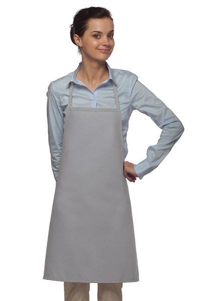 Style 205 Professional Small No Pocket Cover-Up Bib Apron - Silver Gray