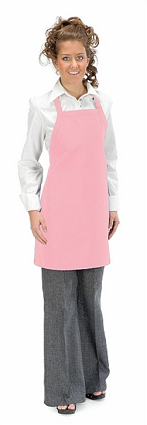 Need Aprons-- Style 210 No Pocket PINK Bib Apron