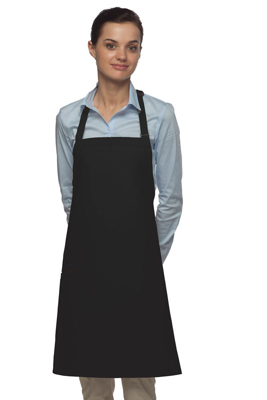 Style 210I High Quality Professional Inset Pocket Butcher Apron - Black