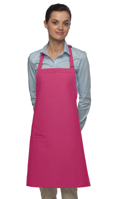 Style 210I High Quality Professional Inset Pocket Butcher Apron - Hot Pink