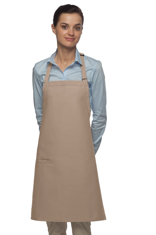Style 210I High Quality Professional Inset Pocket Butcher Apron - Khaki