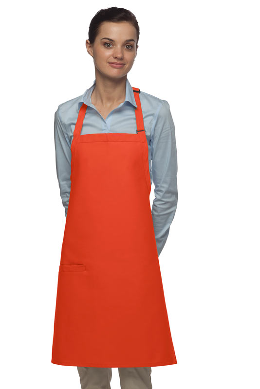 Style 210I High Quality Professional Inset Pocket Butcher Apron - Orange