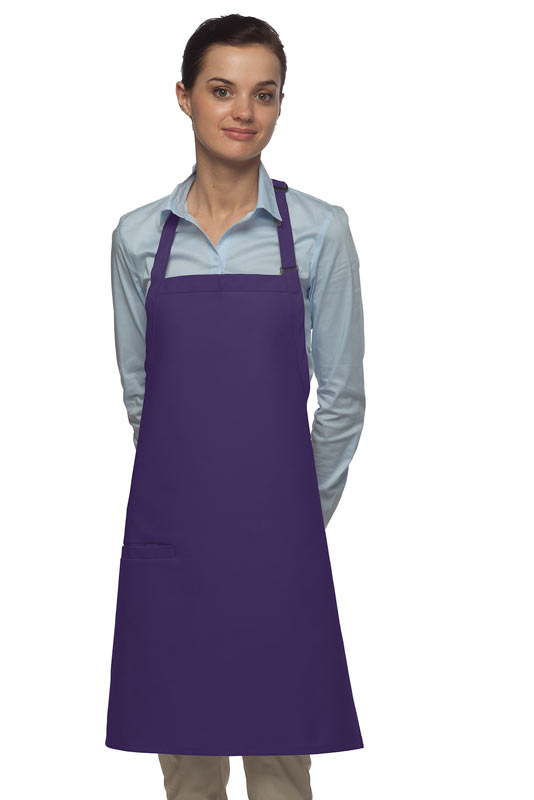 Style 210I High Quality Professional Inset Pocket Butcher Apron - Purple