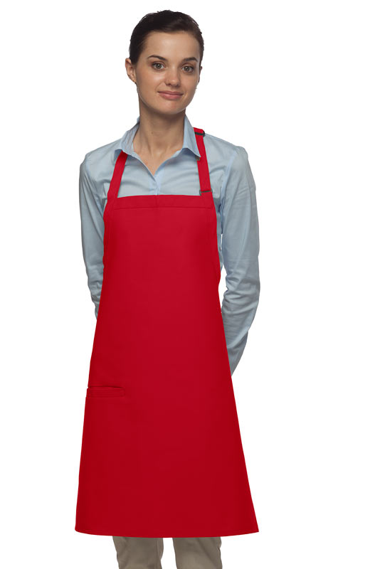 Style 210I High Quality Professional Inset Pocket Butcher Apron - Red