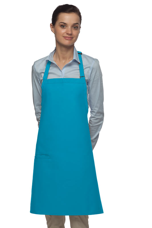 Style 210I High Quality Professional Inset Pocket Butcher Apron - Turquoise
