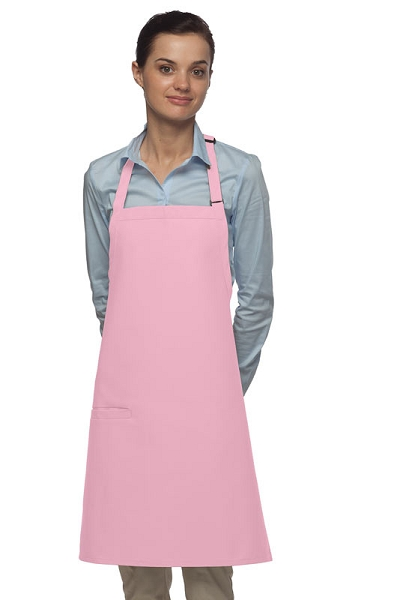 Style 210I High Quality Professional Inset Pocket Butcher Apron - Pink