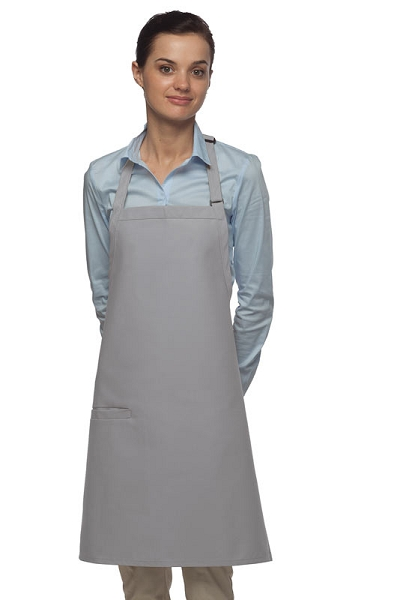 Style 210I High Quality Professional Inset Pocket Butcher Apron - Silver Gray