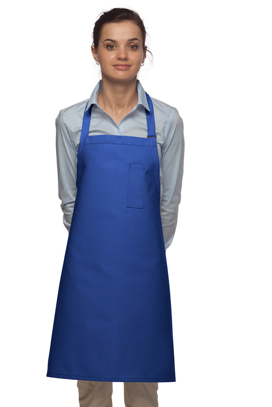 Style 211 Professional Pencil Pocket Bib Apron - Royal Blue