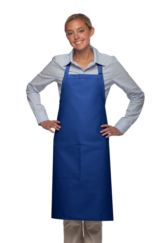 Style 221 High Quality Professional One Pocket Butcher Apron - Royal Blue