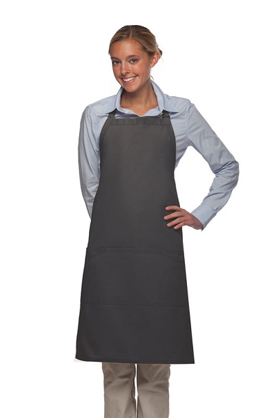 Style 223 Three Pocket Butcher Apron - Charcoal Gray