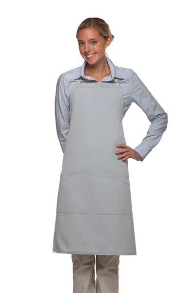 Style 223 Three Pocket Butcher Apron - Silver Gray