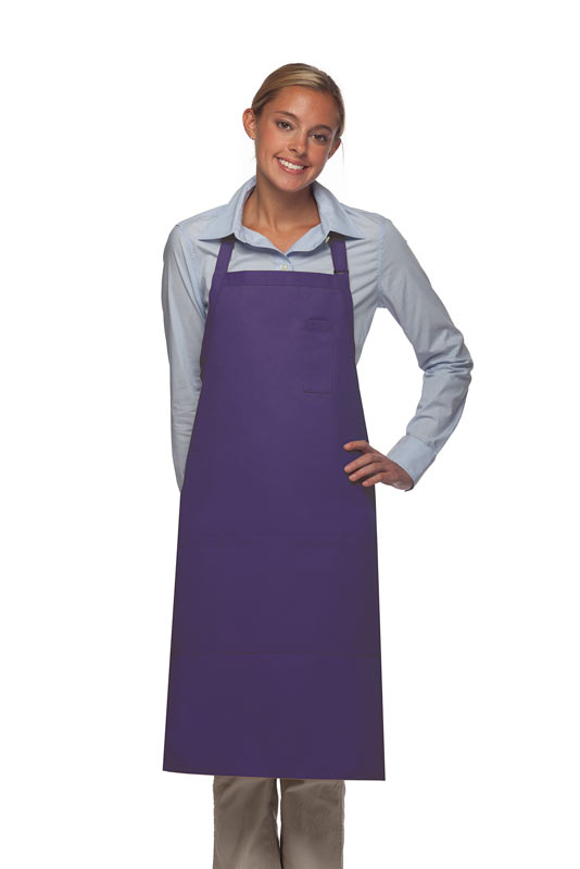 Style 224 Three Pocket Butcher Apron w/ Pencil Pocket - Purple