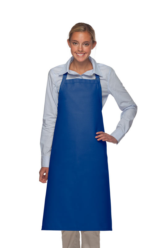 Style 240 Professional Extra Large No Pocket Bib Apron - Royal Blue