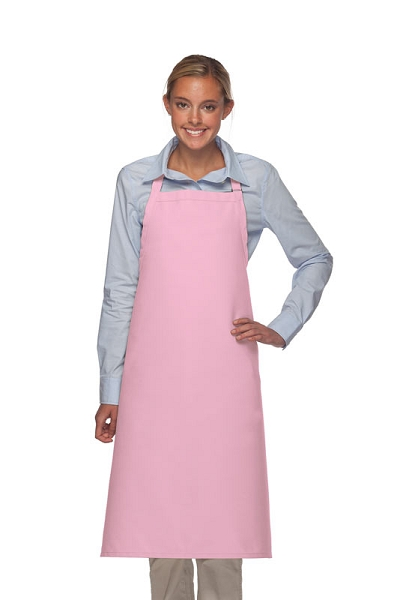 Style 240 Professional Extra Large No Pocket Bib Apron - Pink