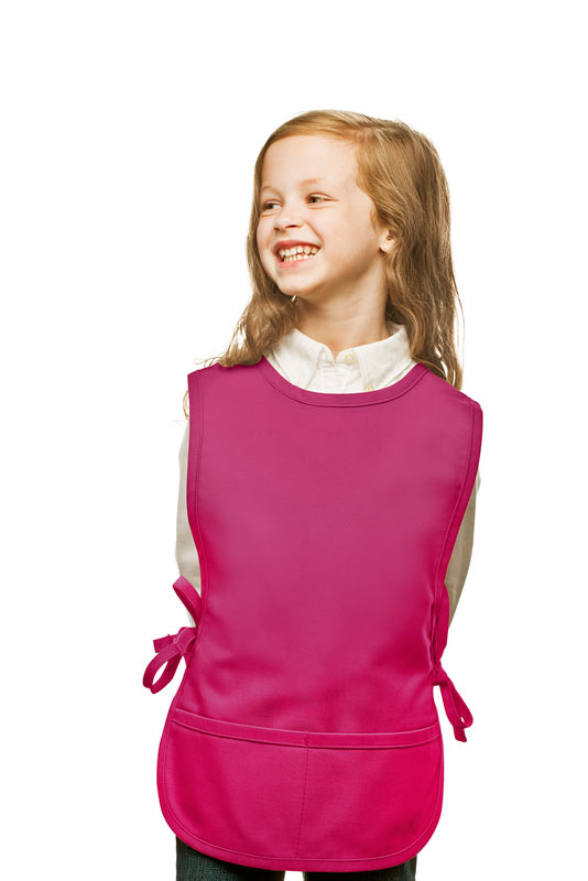 Style 450 High Quality Two Pocket Kids Cobbler Apron - Hot Pink