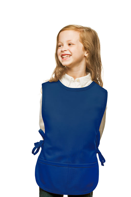 Style 450 High Quality Two Pocket Kids Cobbler Apron - Royal Blue
