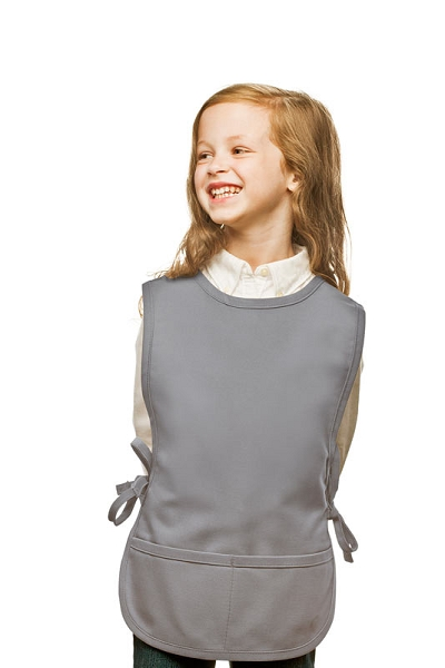 Style 450 High Quality Two Pocket Kids Cobbler Apron - Silver Gray