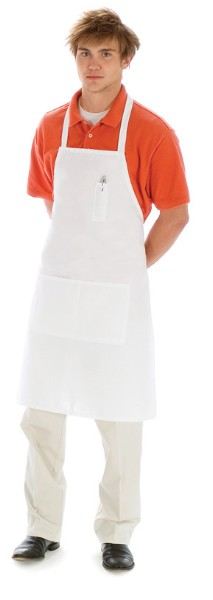 Style B523 Professional Center Divided Butcher Kitchen Apron w/ Pencil Pocket