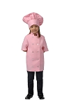 Style 955 Professional Pink Kids Short Sleeve Chef Coat