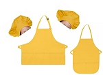 Mother Daughter Bib Aprons and Chef Hats Set -- Yellow