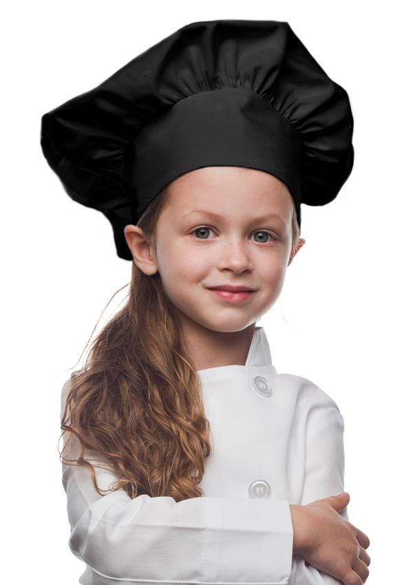 Style 850BK Professional Kids Chef Hat -- Black