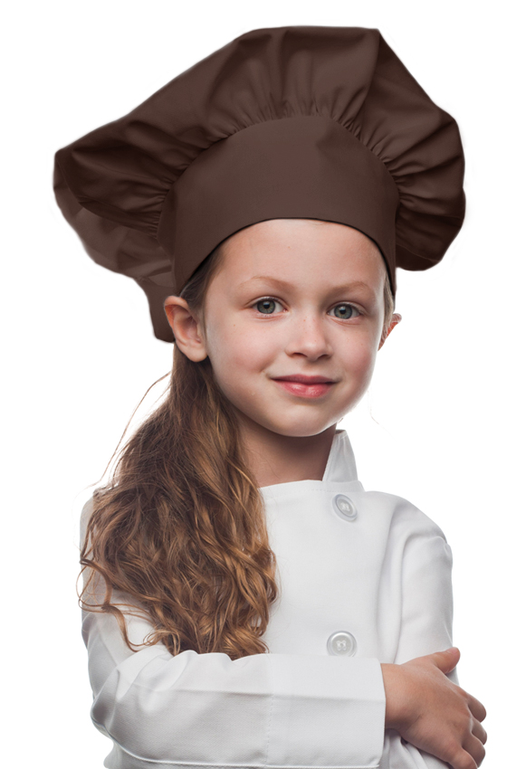 Style 850BR Professional Kids Chef Hat -- Brown