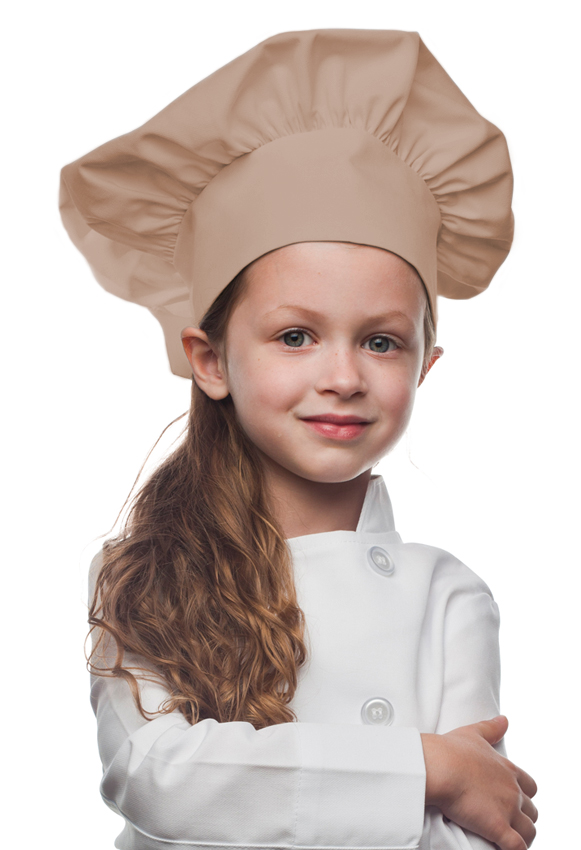 Style 850KH Professional Kids Chef Hat -- Khaki