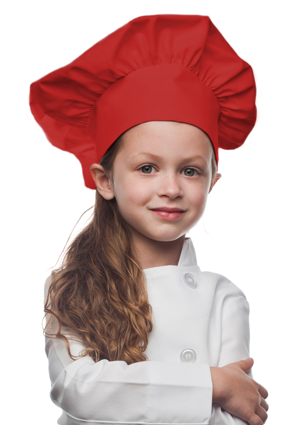 Style 850RED Professional Kids Chef Hat -- Red