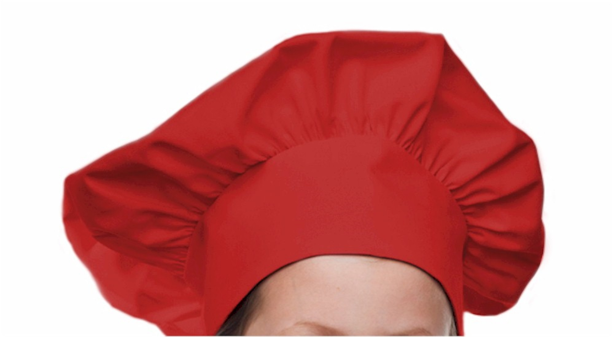 Style 800RD Professional Adult Executive Chef Hat - Red