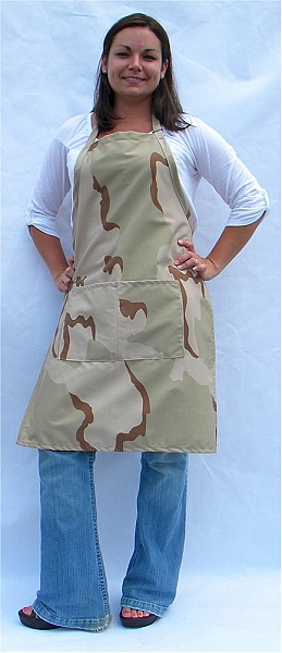 Camo High Quality Professional Center-Divided Pocket Butcher Apron
