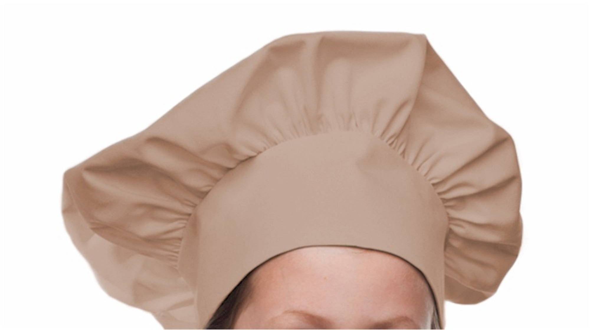 Style 800Khaki Professional Adult Executive Chef Hat - Khaki