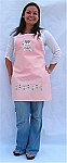 NEW! Style Pink Bib Apron with Girly Skulls