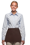 Style 100 Professional Three Pocket Waist Apron - Brown