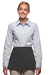 Style 100 Professional Three Pocket Waist Apron - Charcoal Gray
