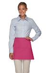 Style 100XL Professional Extra Large Three Pocket Waist Aprons - Hot Pink