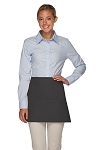 Style 100XL Professional Extra Large Three Pocket Waist Aprons - Charcoal Gray