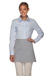 Style 100XL Professional Extra Large Three Pocket Waist Aprons - Silver Gray