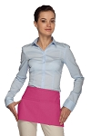 Style 105 Professional Two Pocket Waist Aprons - Hot Pink