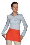 Style 105 Professional Two Pocket Waist Aprons - Orange