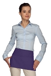 Style 105 Professional Two Pocket Waist Aprons - Purple
