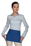 Style 105 Professional Two Pocket Waist Aprons - Royal Blue