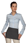 Style 105 Professional Two Pocket Waist Aprons - Charcoal Gray