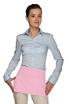 Style 105 Professional Two Pocket Waist Aprons - Pink