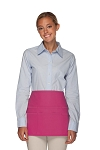 Style 106 Professional SIX Pocket Waist Aprons - 6 Pockets! - Hot Pink